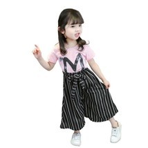 toddler girl clothes baby fashion short sleeved T shirt wide leg shorts ... - $10.69