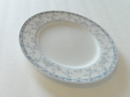 "Noritake Fine China ""Lace Shadow"" pattern One Salad Plate 3988 Blue Flowers - $9.89"