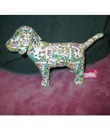 NEW Victoria's Secret GRAFFITI Mini DOG Happy HEART Love STUFFED Plush V... - $23.88
