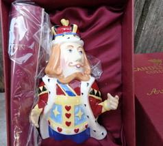 "Rare Vintage Dept. 56 Alice In Wonderland ""King Of Hearts"" Ornament Candle Crown - $35.00"