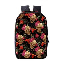 personality creative women skull flowers school travel waterproof should... - $26.00