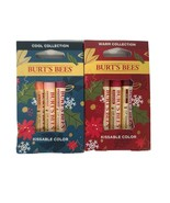 Lot of 2 Burt's Bees Kissable Color 3 Lip Shimmers Warm & Cool Collectio... - $15.14