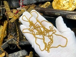"GOLD MONEY CHAIN 66"" 1715 FLEET TRICENTENNIAL SHIPWRECK PIRATE GOLD COIN... - $16,500.00"