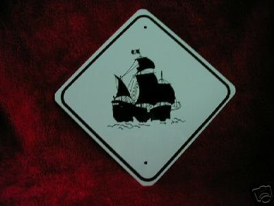 METAL  PIRATE SHI P  CUTEZ  TRAFFIC SIGNS   MINIATURE