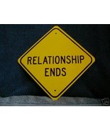 METAL MINI   RELATIONSHIP ENDS SCOTTY  SAYS SIGNS - $4.90