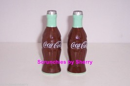 Coke Coca Cola Bottle Ceramic  Salt & Pepper Shakers Vinatge - $24.95