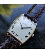 JAEGER LECOULTRE Men's Midsize/Unisex 18K Gold Tonneau Classic c.1960s M... - $2,385.22