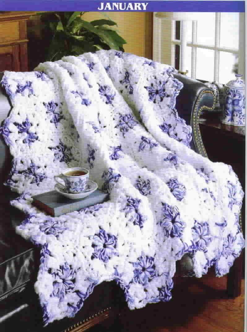 Leisure Arts Crochet A Year Of Q Hook Afghans Twelve ...