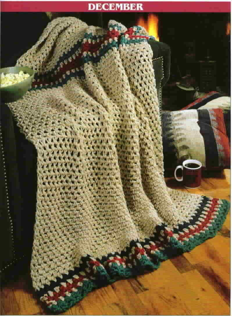 Crochet Afghan Patterns With Q Hook : Leisure Arts Crochet A Year Of Q Hook Afghans Twelve ...