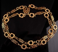 Ornate Trifari Necklace - couture Modernist design -  Mother of the Brid... - $125.00