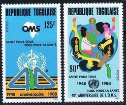 TOGO 1988 WHO / UNO / ONU MNH MEDICINE, MAPS - $1.93