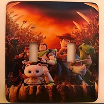Toy Story Metal Switch Plate Double - $10.50