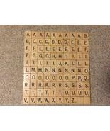 Original WOOD ENGRAVED Scrabble Tiles Replacement Crafts Vintage - $1.65+