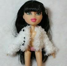 Bratz Barbie Fuzzy White Coat Fits Jade Yasmin Sasha Chloe Doll Coat - $16.82