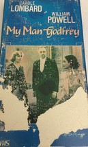 "WILLIAM POWELL ""MY MAN GODFREY"" VHS 1984-TESTED... - $8.71"