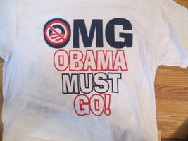 OMG Obama Must Go Political T Shirt Size XXL - $1.99
