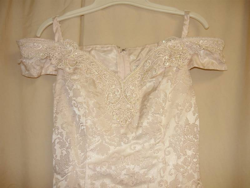 1960's Pink Brocade Iridescent Formal Dress Sm.
