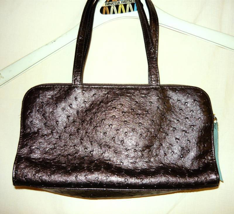 Victoria Secret Brown faux Ostrich Bag