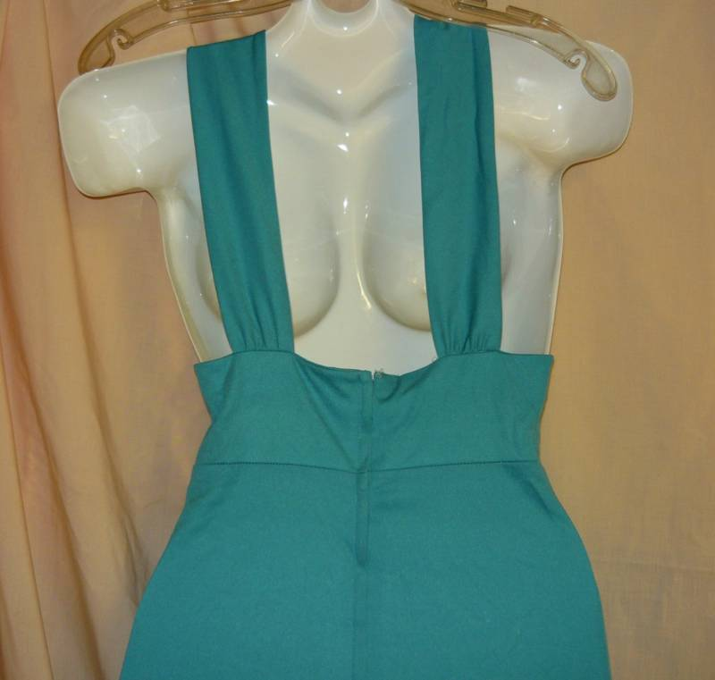 Turquoise Halter Gown- S