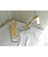 Wedding  Ankle/leg -Strapped Pearl St. Tropez Sandal Heels sz. 7  - $24.88