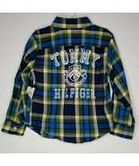 TOMMY HILFIGER Boy's Spell Out Plaid Shirt Size 4 Long Sleeve NEW - $19.99