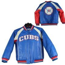 Chicago Cubs youth kids vintage jacket baseball MLB size M 8-10 (F-3) - $39.49