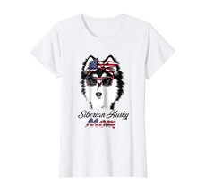 Dog Fashion - Husky Gift|Bandana & Glass of 4th of July|Funny Shirt Wowen - $19.95+