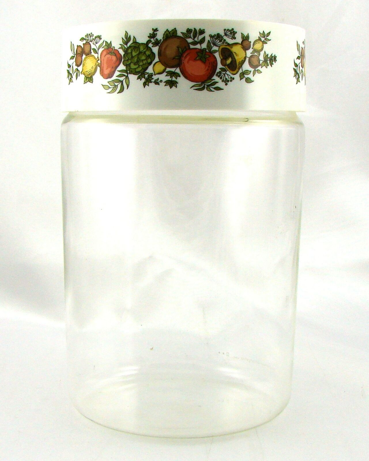 Pyrex Spice of Life 1.75 Qt Store n See Canister w/ Plastic Lid ~ Made in USA