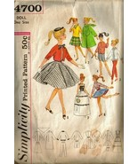 Vintage 1960's Simplicity #4700 BARBIE Doll Clothes Pattern - $10.00