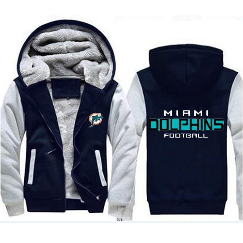 buy popular 90323 54602 Miami Dolphins NFL Men's Women's Coats Warm and 50 similar items