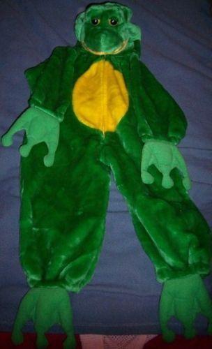 Childs Plush Frog Haloween Costume SZ SM Chosun NWOT Green Unique Warm