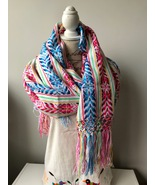 Traditional handwoven Mexican Rebozo. (Shawl) - €27,81 EUR