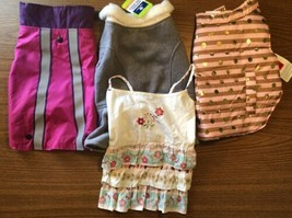 Dog Clothing Lot of 4 Medium Jacket Coat Dress Girl M Winter Dog Apparel... - $38.69