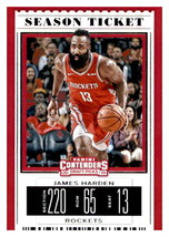 2019-20 Panini Contenders Draft Picks Season Ticket #18 James Harden Roc... - $1.95