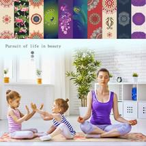 Avatar Indian Yoga Mat Pilates Hindu Life Circle Gym Pattern Rug Towel G... - $49.89