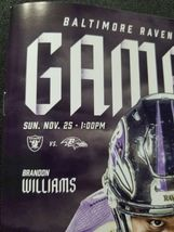 Baltimore Ravens GAME DAY Program Multi Autograph Marshal Yanda image 4
