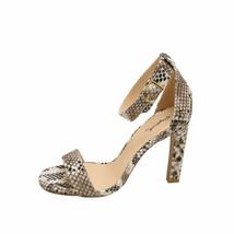 Qupid Hurst 01 Snake Women's Open Toe Ankle Strap Sandal Heels - $31.95