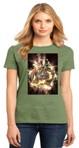 Avengers Logo District Made Ladies Perfect Weight Crew T-Shirt Size XS To 4XL - $19.99+