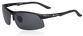 SUNGAIT Driving Sunglasses For Men HD Polarized Lens Fit Fishing Cycling (Black - $52.98