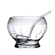 "MIKASA ""CHEERS"" FOOTED LARGE PUNCH BOWL WITH LADLE 180 OZ. CAPACITY CLEA... - $284.60"