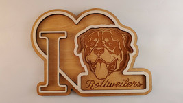 """I Love """"Rottweilers"""" Beautiful 3d Sign. Pets, perfect Home Craft Decor - $9.99"""
