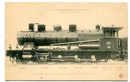 Machine Compound Train Railroad Paris Orleans Les Locomotives France pos... - $6.39