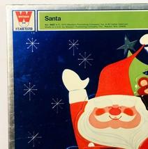 Vintage 1970 Whitman SANTA Foil Frame Tray Puzzle No 4887 Santa Claus in Sleigh - $9.49