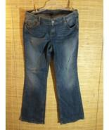 Tommy Hilfiger Women's Jeans Freedom Boot Cut Sz 16R Medium Wash 37 x 32... - $22.49