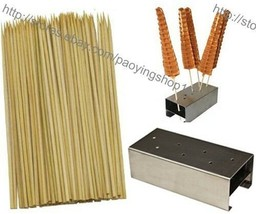 1pc Stainless Steel Lolly Waffle Stick Holder Stand + 100pcs 35cm Bamboo... - $1.338,02 MXN