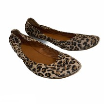 Lucky Brand Leopard Print Slip-On Ballet Flats Women's Size 8 M - $25.99