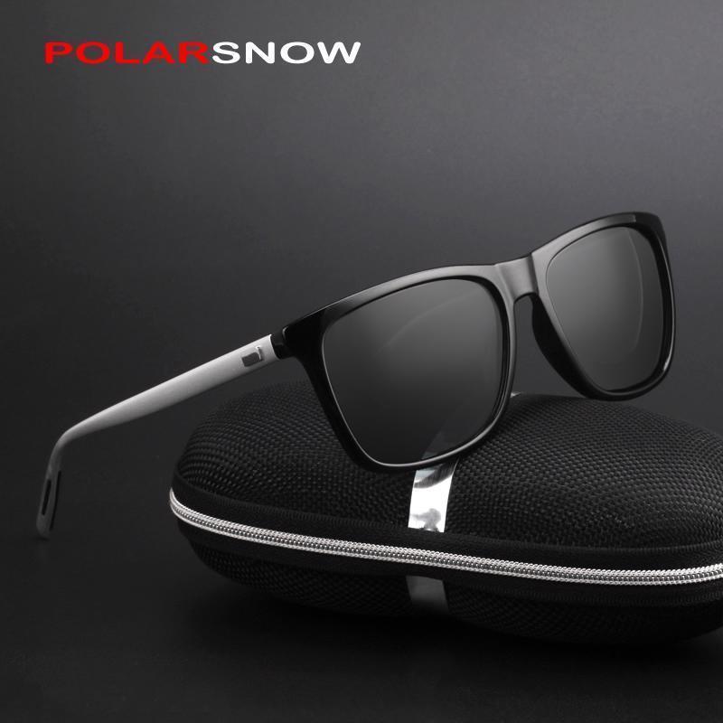 3456af2a3d POLARSNOW Aluminum+TR90 Sunglasses Men Polarized Brand Designer Points  Women Men