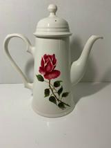 "Johnson Bros Brothers Tea Pot Kettle Pitcher Tall Rose England Porcelain 11"" - $7.43"