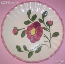 BLUE RIDGE SOUTHERN POTTERY-- RED NOCTURNE LUNCH PLATE - $24.95