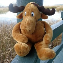 "Rocky Bullwinkle Moose 1986 22"" Plush Stuffed Animal Commonwealth Brand - $29.65"